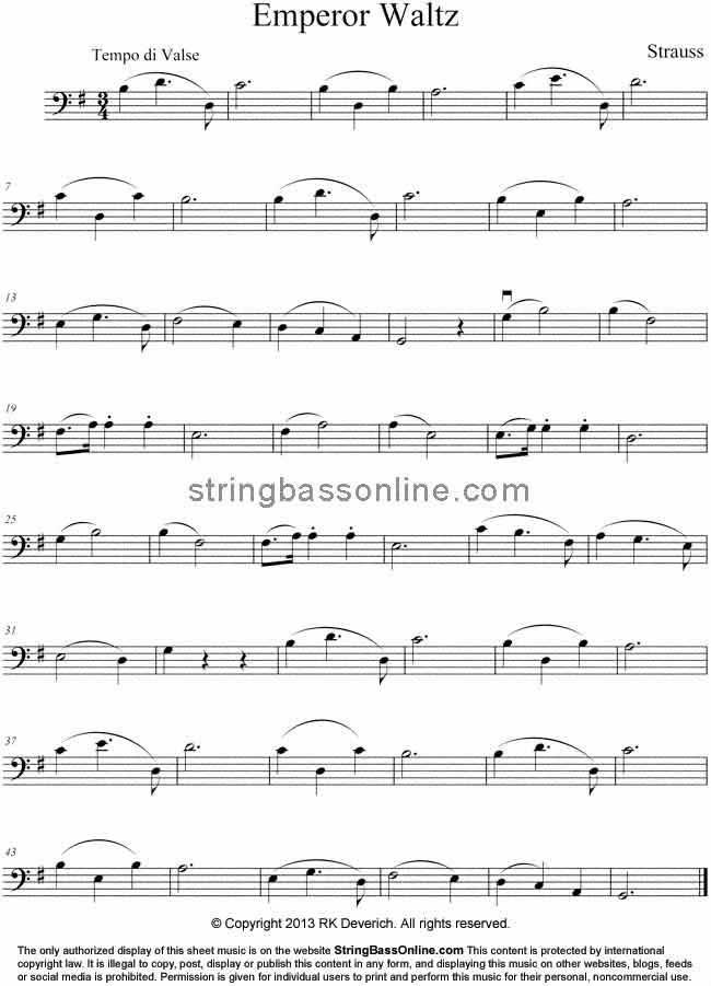 All Music Chords sheet music to print : String Bass Online Free Bass Sheet Music -