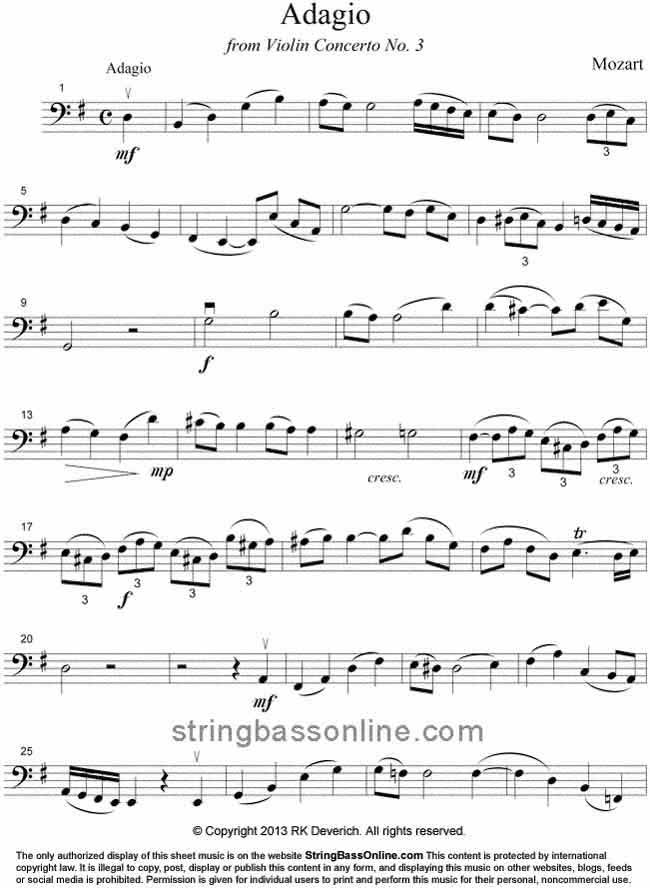 All Music Chords music sheet online free : String Bass Online Free Bass Sheet Music -